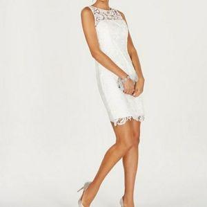 ADRIANNA Papell Illusion Sleeveless Dress